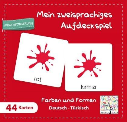 Mein zweisprachiges Aufdeckspiel - Farben und Formen Deutsch-Türkisch (Kinderspiel)