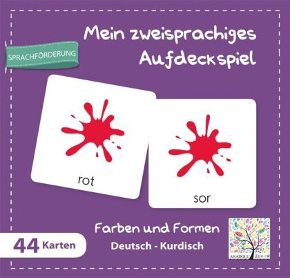 Mein zweisprachiges Aufdeckspiel - Farben und Formen Deutsch-Kurdisch (Kinderspiel)