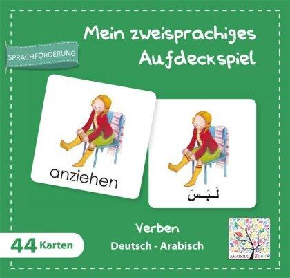 Mein zweisprachiges Aufdeckspiel - Verben Deutsch-Arabisch (Kinderspiel)