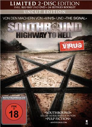 Southbound - Highway to Hell (2015) (Limited Edition, Mediabook, Uncut, Blu-ray + DVD)