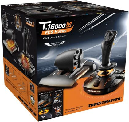 Thrustmaster - T.16000M FCS Hotas Flight Stick + Dual Throttle