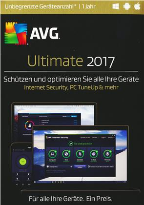 AVG Ultimate 2017 [unbegrenzte Lizenzen] (TuneUp H&O) [PC/Mac/Android]