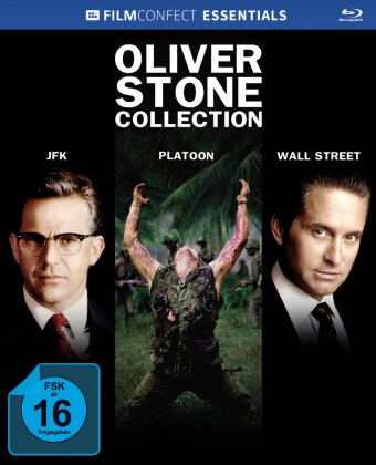 Oliver Stone Collection (Filmconfect Essentials, Mediabook, Limited Edition, 3 Blu-rays)