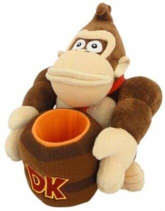 Nintendo: Donkey Kong mit Fass - Plüsch 23cm