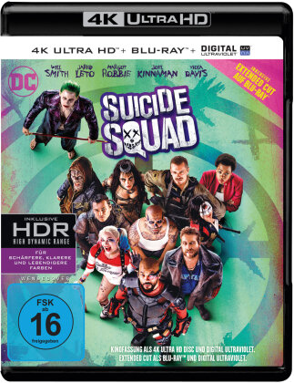 Suicide Squad (2016) (Extended Cut, Kinoversion, 4K Ultra HD + Blu-ray)