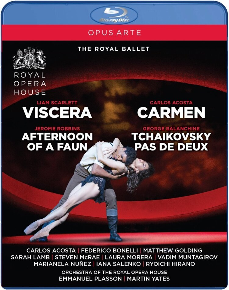 Royal Ballet, Orchestra of the Royal Opera House, … - Viscera, Carmen, Afternoon of a Faun & Tchaikovsky pas de deux (Opus Arte)