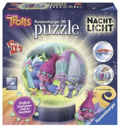 Trolls: 3D Puzzle Nachtlicht - 72 Teile