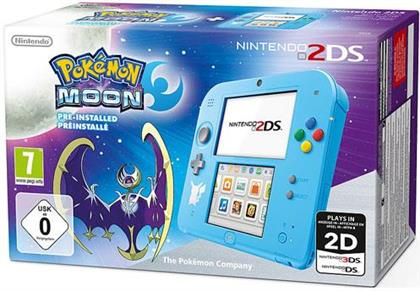 2DS Console - Special Edition Pokémon Moon (Special Edition)