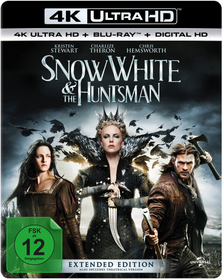 Snow White & the Huntsman (2012) (Extended Edition, 4K Ultra HD + Blu-ray)
