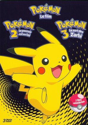 Pokémon - Le Film / Pokémon 2 - Le Pouvoir est en toi / Pokémon 3 - Les sort des Zarbi (Remastered, 3 DVDs)