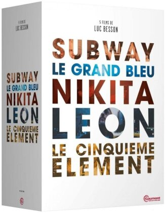 5 films de Luc Besson - Subway / Le grand bleu / Nikita / Leon / Le cinquieme element (Collection Gaumont Classiques, Box, 5 DVDs)