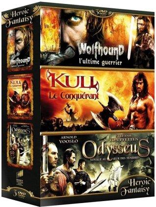 Coffret Heroic Fantasy Vol. 2 - Wolfhound / Kull le conquérant / Odysseus (Box, 3 DVDs)