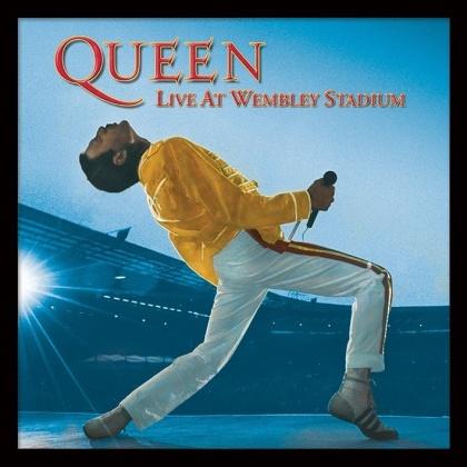 "Queen: Live at Wembley - 12"" Framed Album Cover Print"