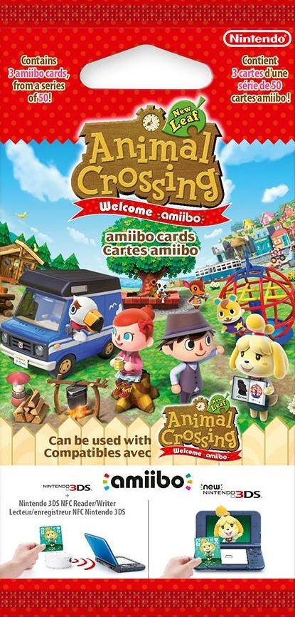 Cartes amiibo Animal Crossing - New Leaf 3 pièces