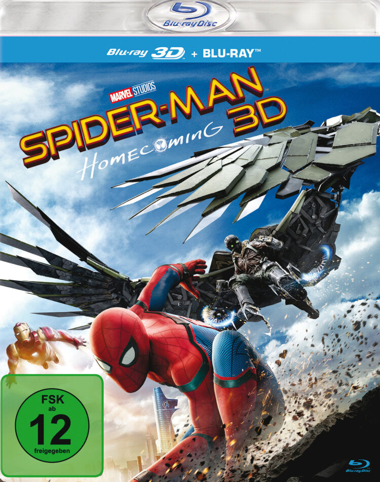 Spider-Man: Homecoming (2017) (Blu-ray 3D + Blu-ray)