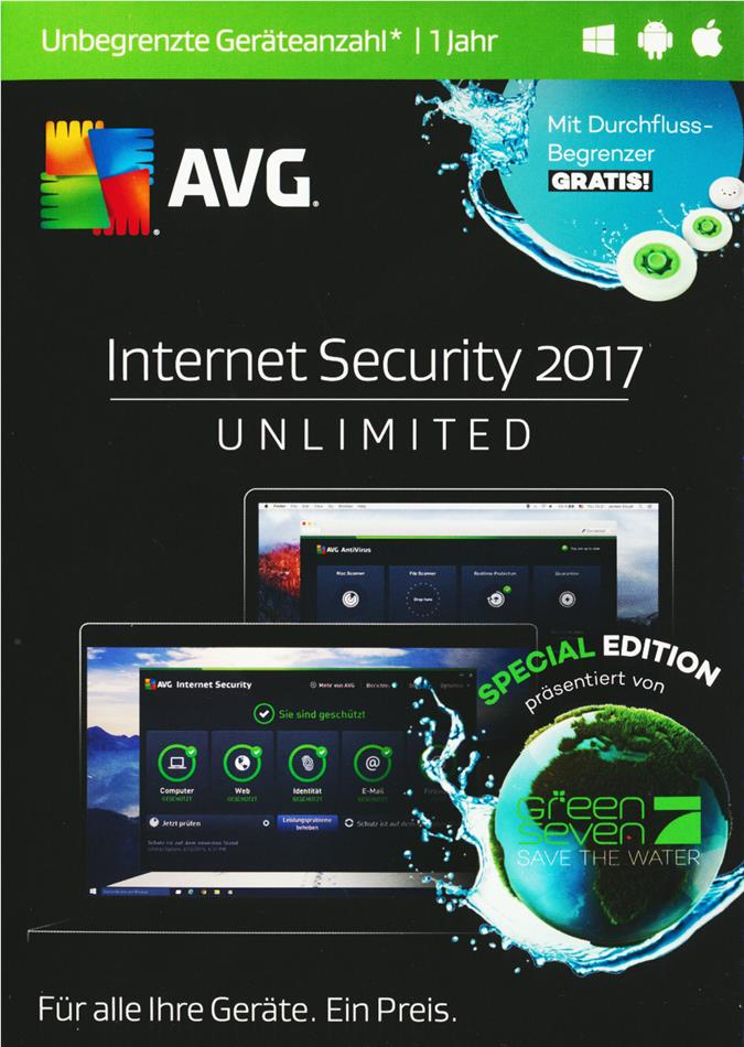 AVG Internet Security 2017 Special E. - [unb. Lizenzen] [PC/Mac/Android]