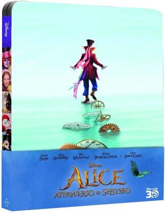 Alice attraverso lo specchio (2016) (Steelbook, Blu-ray 3D + Blu-ray)