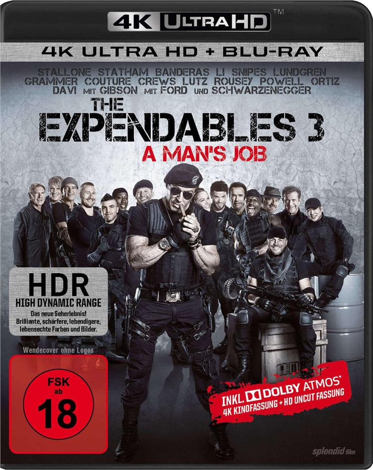 The Expendables 3 - A Man's Job (2014) (Uncut, 4K Ultra HD + Blu-ray)