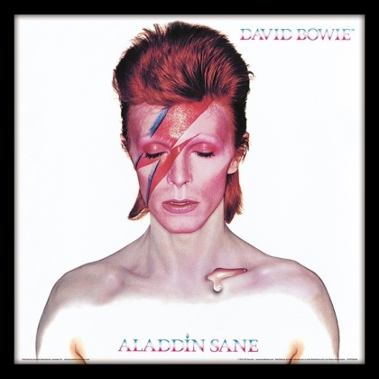 "David Bowie: Aladdin Sane - 12"" Album Cover Framed Print"