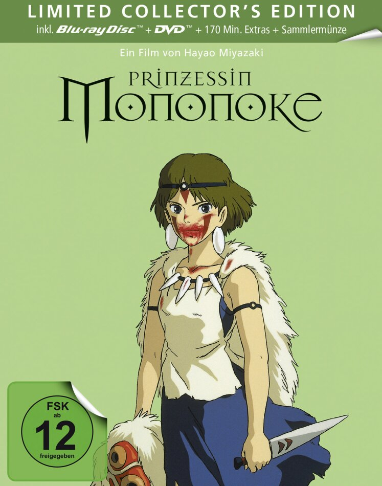 Prinzessin Mononoke (1997) (Limited Collector's Edition, Steelbook, Blu-ray + DVD)
