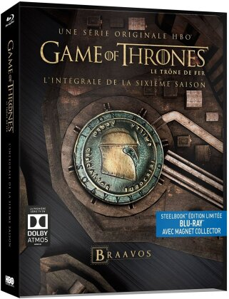 Game of Thrones - Saison 6 (Limited Edition, Steelbook, avec Magnet Collector, 4 Blu-rays)