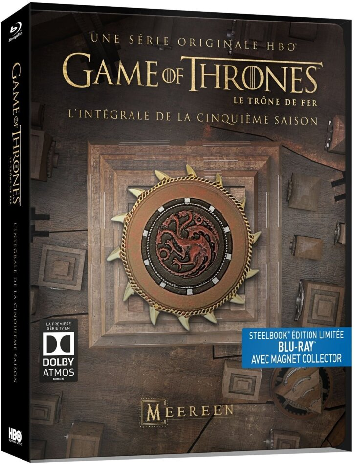 Game of Thrones - Saison 5 (Limited Edition, Steelbook, avec Magnet Collector, 4 Blu-rays)