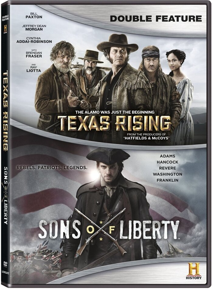 Texas Rising / Sons Of Liberty (Double Feature, History Channel, DC Universe Original Movie Double Feature, 5 DVD)