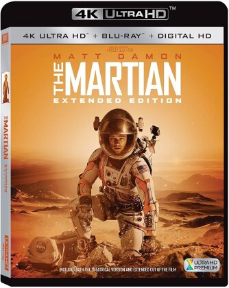 Martian (2015) (Extended Cut, Extended Edition, 4K Ultra HD + Blu-ray)