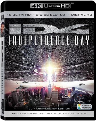 Independence Day 20Th Anniversary (1996) (20th Anniversary Edition, 4K Ultra HD + 2 Blu-rays)