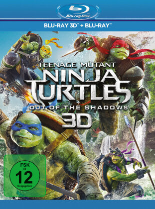 Teenage Mutant Ninja Turtles 2 - Out Of The Shadows (2016) (Blu-ray 3D + Blu-ray)