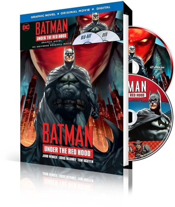 Batman - Under the Red Hood (Graphic Novel, Blu-ray + DVD + Buch)