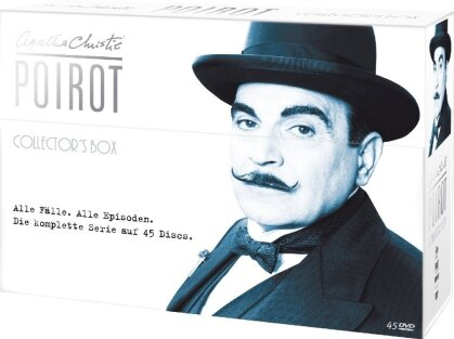 Agatha Christie - Poirot - Die komplette Serie (Collector's Box, Limited Edition, 45 DVDs)