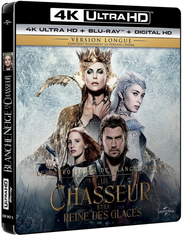 Le Chasseur et la Reine des Glaces (2016) (Kinoversion, Langfassung, 4K Ultra HD + Blu-ray)