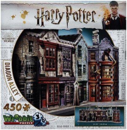Harry Potter: Winkelgasse 3D - Puzzle (450 Teile)