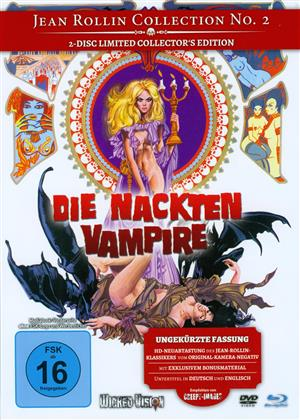 Die nackten Vampire (1970) (Cover A, Jean Rollin Collection, Collector's Edition, Limited Edition, Uncut, Mediabook, Blu-ray + DVD)