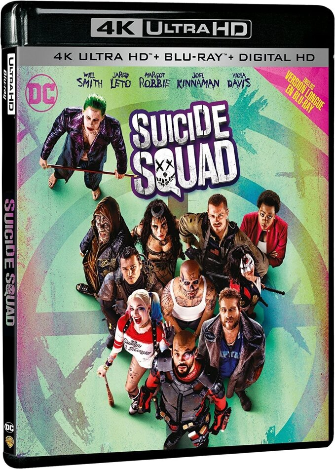 Suicide Squad (2016) (Versione Cinema, Versione Lunga, 4K Ultra HD + Blu-ray)