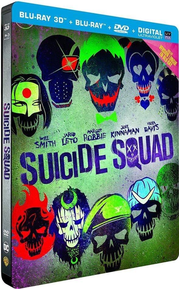Suicide Squad (2016) (Versione Lunga, Versione Cinema, Edizione Limitata, Steelbook, Blu-ray 3D + 2 Blu-ray + DVD)