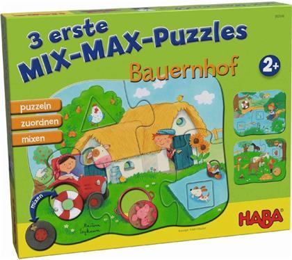 Bauernhof - 3 erste Mix-Max-Puzzles