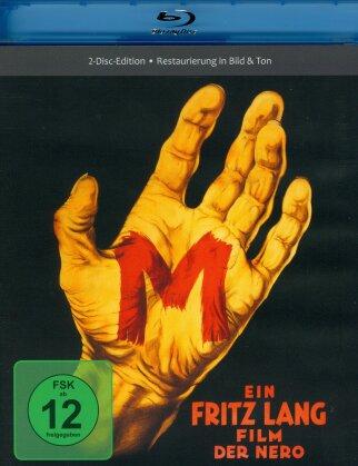 M - Eine Stadt sucht einen Mörder (1931) (s/w, Restaurierte Fassung, Blu-ray + DVD)