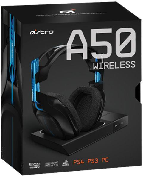 Astro Gaming A50 Headset, Wireless Dolby 7.1 Black - Blue inkl. wireless MixAmp (PS4, PS3, PC, MAC)*