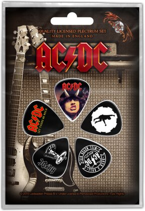 AC/DC Plectrum Pack - Highway / For Those / Let There (Retail Pack)
