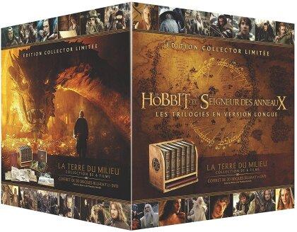 Le Hobbit et Le Seigneur des Anneaux - Les Trilogies en version longue (Limited Edition, 18 Blu-rays + 12 DVDs)