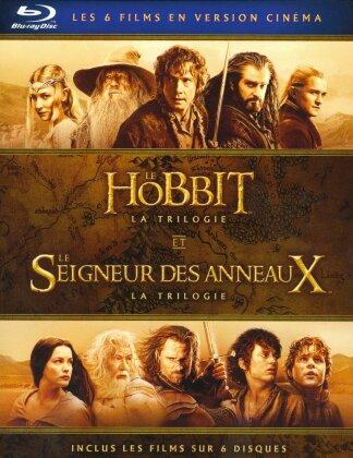 Le Hobbit et Le Seigneur des Anneaux - Les Trilogies (Version Cinéma, 6 Blu-ray)