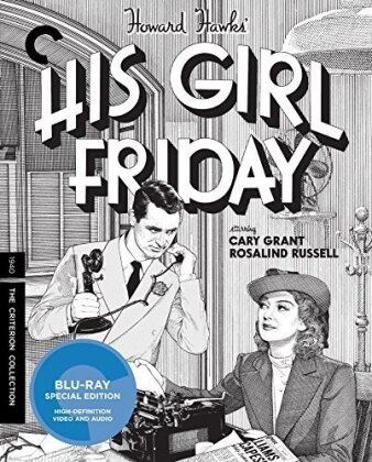 His Girl Friday (1940) (s/w, Criterion Collection, 2 Blu-rays)