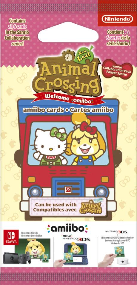 amiibo Cards Pack 6 Stk. Animal Crossing: New Leaf + Sanrio