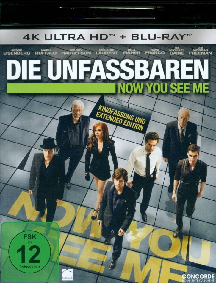 Now You See Me - Die Unfassbaren (2013) (Extended Edition, Kinoversion, 4K Ultra HD + Blu-ray)