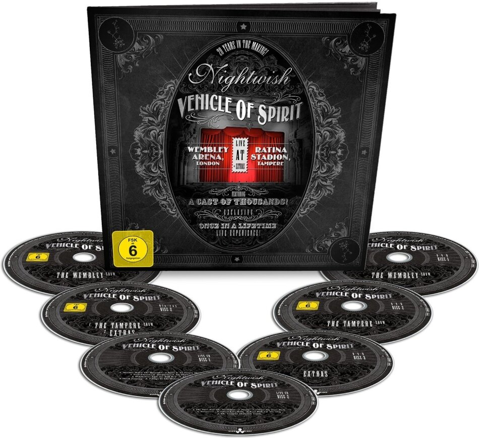 Nightwish - Vehicle of Spirit (Earbook, Limited Edition, 2 Blu-rays + 3 DVDs + 2 CDs)