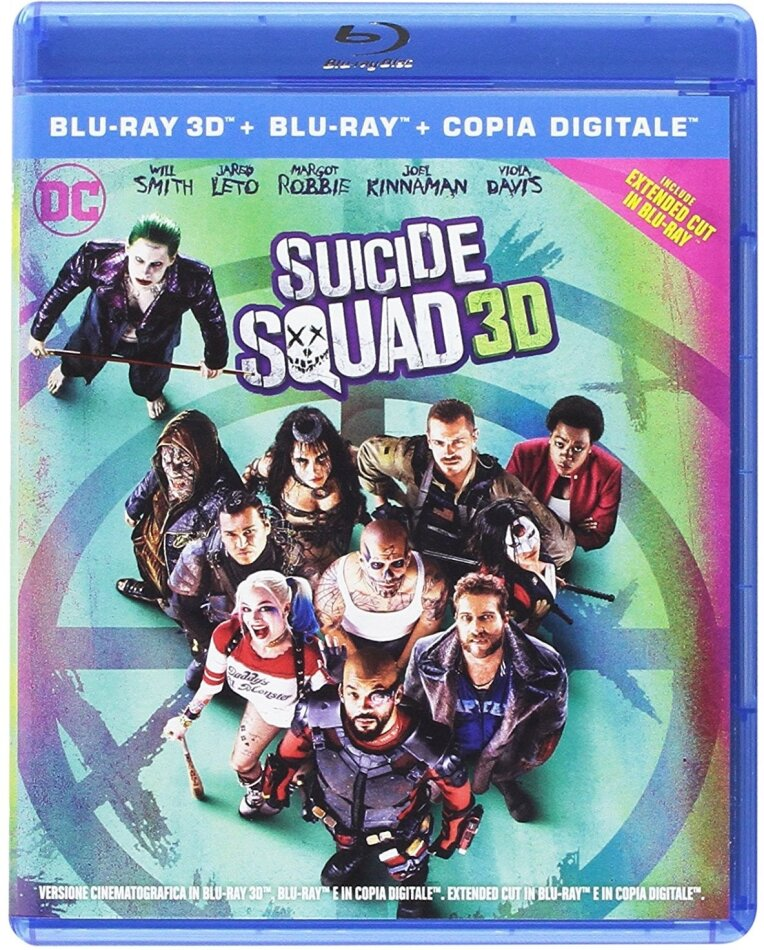 Suicide Squad (2016) (Extended Cut, Theatrical Version, Blu-ray 3D + 2 Blu-ray)