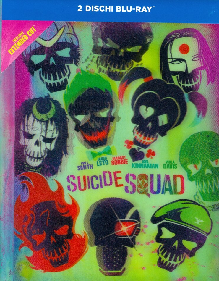 Suicide Squad (2016) (Extended Cut, Lenticular, Kinoversion, Mediabook, 2 Blu-rays)