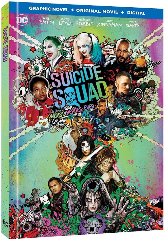 Suicide Squad (2016) (Graphic Novel, 2 Blu-ray)